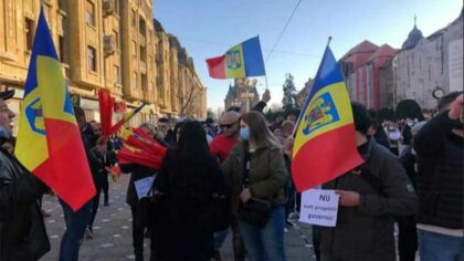 Protest in Timisoara fata de...